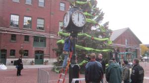 making the atomic clock, reed switch, solar in the distillery district of Toronto