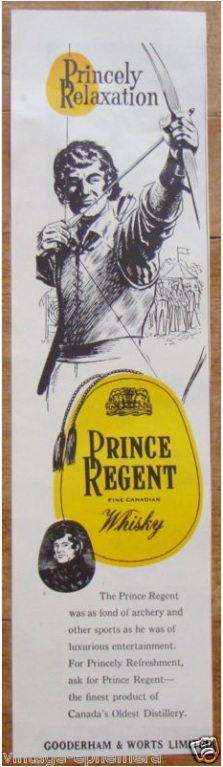 Prince Regent Whisky, Princely relaxation, Prince as archer