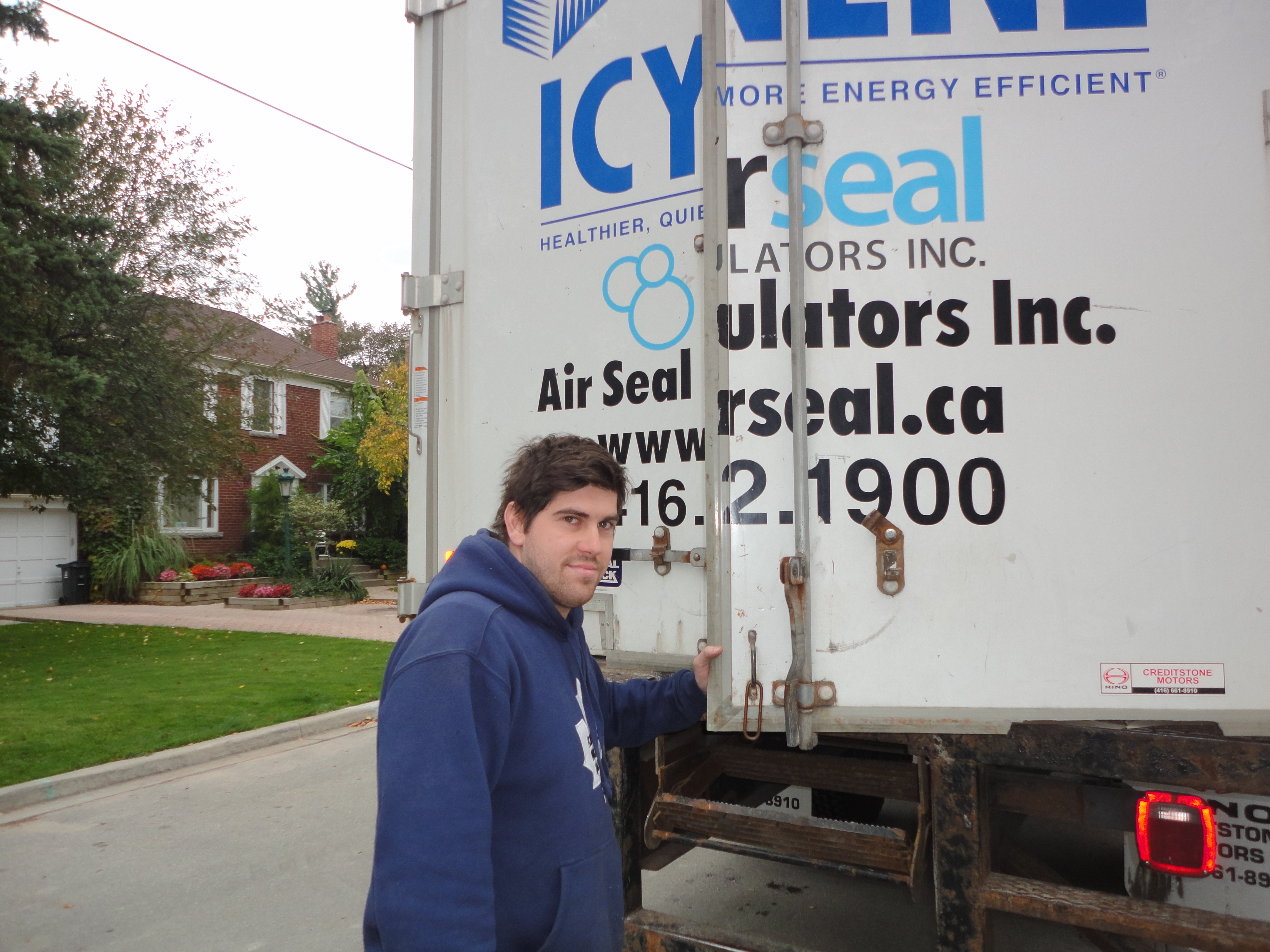 opening up the truck spray foam toronto,
